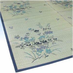 い草カーペット 「キキョウ」 (江戸間)2畳、3畳、4.5畳、6畳、8畳 【裏なしタイプ】
