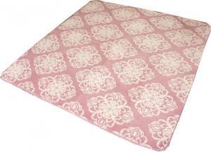 シルエット調に柄が浮き出るふかふかラグ「クリスタル」 ピンク色 【13mmウレタン使用、HC対応】