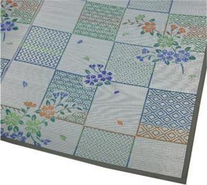 和室に似合う伝統的な花ござ柄「花吹雪」【丈夫な袋織、裏なしタイプ】