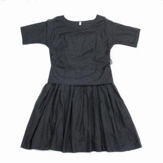 petite robe noire プティローブノアー コットンシルク ワンピース