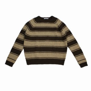 nonnative ノンネイティブ 17AW TOURIST SWEATER SHETLAND WOOL YARN BORDER ボーダーニット