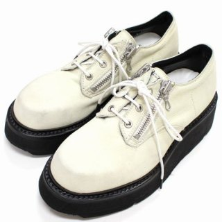 JULIUS ユリウス 19SS DOUBLE ZIP THICK-SOLED SHOES Ivory ダブルジップシックソリッドシューズ