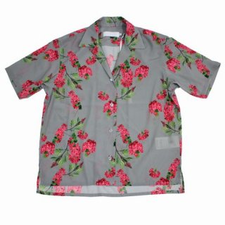 Graphpaper グラフペーパー 19SS Flower Printed Open Collar Shirt