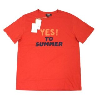 A.P.C. アーペーセー T-SHIRT YES TO SUMMER Tシャツ