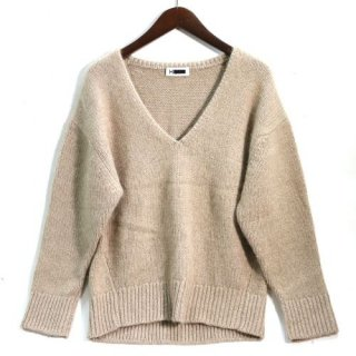 H エイチ ビューティー&ユース CASHMERE LOW GAUGE V NECK KNIT PULLOVER カシミヤニット