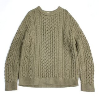 AURALEE オーラリー 18AW FRENCH MERINO ARAN KNIT P/O アラン ニット