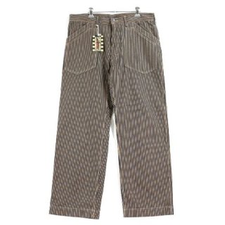 AT DIRTY アットダーティー WORKERS PANTS ヒッコリーパンツ