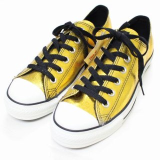 CONVERSE ALLSTAR METAL-LEATHER OX YELLOWGOLD オールスター メタルレザー