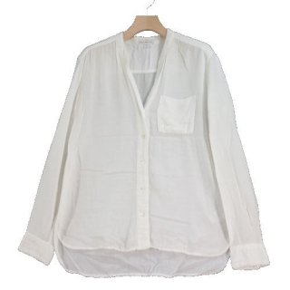 JAMES PERSE ジェームスパース LIGHTWEIGHT WOVEN COLLARLESS SHIRT Vネック シャツ
