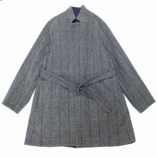 SUNSEA サンシー 15AW Reversible Herringbone Stripe x Denim Coat リバーシブル コート