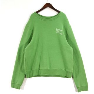 SIMON MILLER サイモンミラー safari別注 ロゴ刺繍クルーネックスウェットシャツ