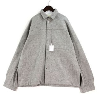 ANEI アーネイ 19AW ACTIVE SIDE SLIT SHIRT WOOL ウールシャツ
