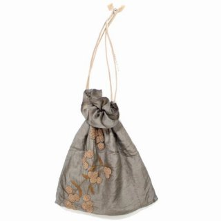 Khadi and Co カディー&コー 18AW POM POM silk bag シルク 巾着 バッグ