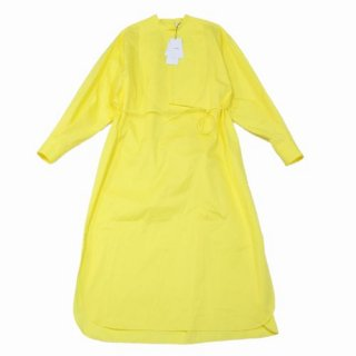 HYKE ハイク 20AW BIB FRONT SHIRT DRESS ビブブロントシャツドレス ワンピース