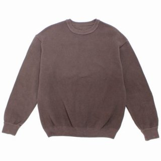 crepuscule クレプスキュール 20AW moss stitch L/S sweat 鹿の子スウェット