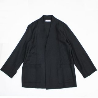 marka マーカ 20AW LAPELLESS SHIRT JACKET - wool soft serge - シャツ ジャケット