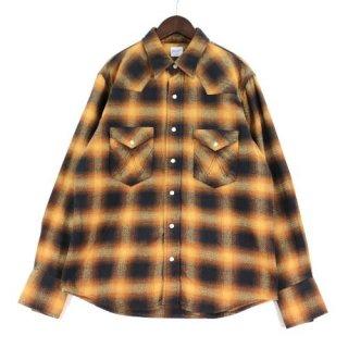 Wrangler × BEAMS ラングラー × ビームス チェック ウエスタンシャツ