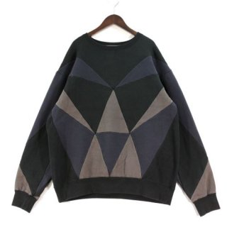 ANREALAGE アンリアレイジ 19AW PRISM PATCHWORK SWEAT パッチワークスウェット
