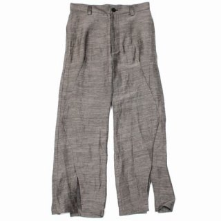 amachi. アマチ 20SS Contour Line Flare Pants Clay Brown パンツ