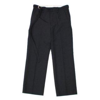 URU ウル 20SS WOOL SERGE STRAIGHT PANTS ベルト付き ウールサージ ストレートパンツ