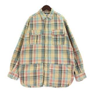 SASSAFRAS ササフラス Botanical Scout Apron Shirt - Cotton Flannel コットンフランネルシャツ