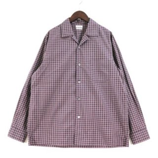Steven Alan スティーブンアラン MINI TARTAN CHECK OPEN COLLAR SHIRT オープンカラーシャツ