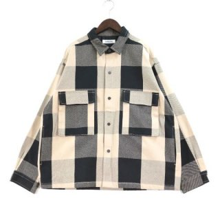 monkey time モンキータイム  20AW BLOCK CHECK CROPPED CPO クロップドシャツ