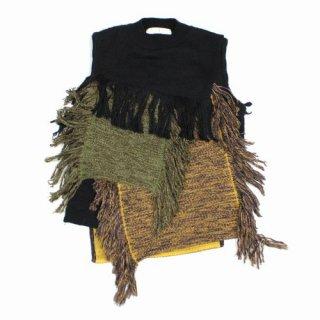 AKIRA NAKA アキラナカ 18AW Frieda Knit Pullover フリンジニット ベスト