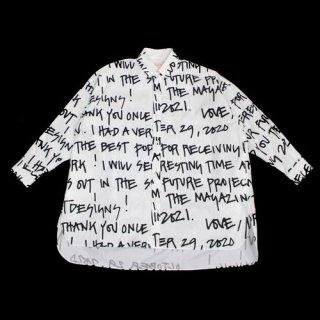 mintdesigns ミントデザインズ 21SS LETTER PRINT BIG SHIRT レタープリント ビッグシャツ