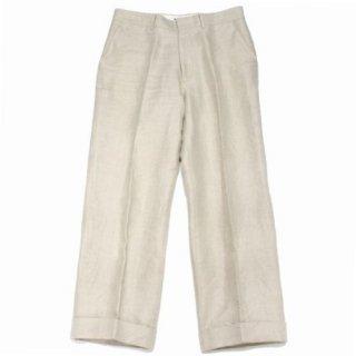 AURALEE オーラリー 18SS LINEN GABARDINE SLACKS リネン ギャバジン スラックス パンツ
