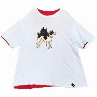 UNDERCOVER アンダーカバー 18SS WOMENS ガーゼ天竺リバーシブルカットソー Tシャツ DOG CAT