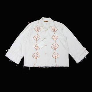 NANUA ナヌア 20AW HAND EMBROIDERY SAMSARA SHIRT オープンカラーシャツ