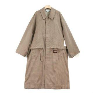 YOKE ヨーク yoke tokyo 19SS 3WAY BAL COLLAR SHARE COAT チェック コート