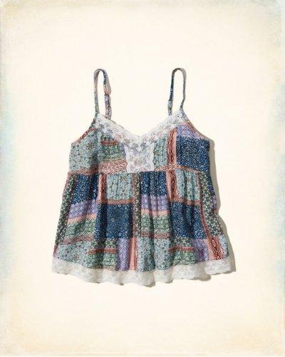 [ホリスター]Textured Pintuck Cami(マルチパターン)