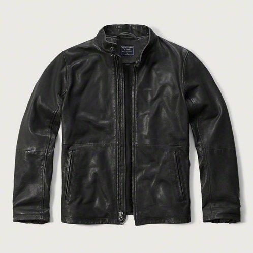 [アバクロ]Genuine Leather Moto Jacket(ブラック)