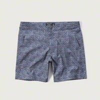 [アバクロ]7' Tailored Trunk Fit Shorts(ブルーパターン)