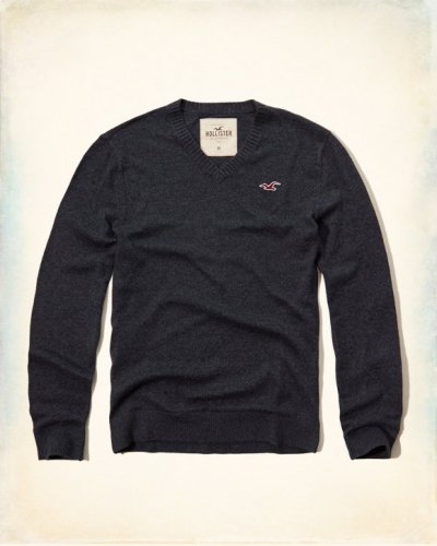 [ホリスター]V-Neck Icon Sweater(ネイビー)