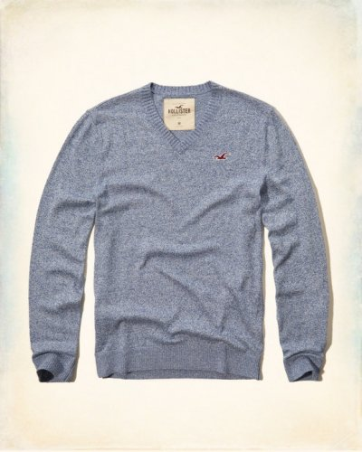 [ホリスター]V-Neck Icon Sweater(ブルー)