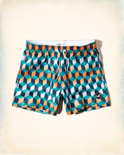 [ホリスター]Guard Fit Swim Shorts(GEOパターン)