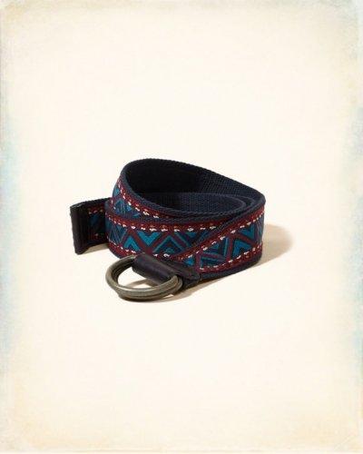 [ホリスター]Patterned Fabric Belt(ブルーパターン)