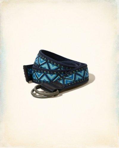 [ホリスター]Reversible Fabric Belt(ブルーパターン)