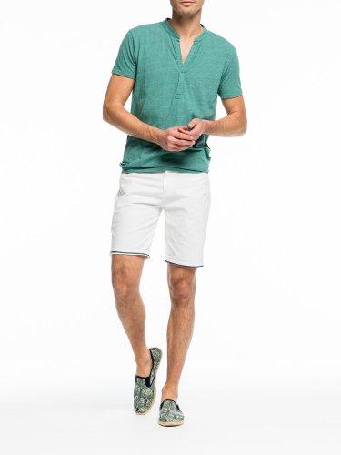 [スコッチ&ソーダ]Buttonless Grandad T-Shirt(ブルースティールメランジ)