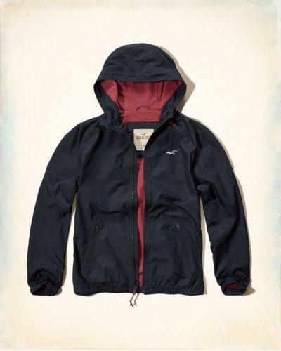 [ホリスター]Hooded Nylon Jacket(ネイビー)