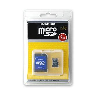 TOSHIBA「micro SD 2GB」SDカードアダプター付