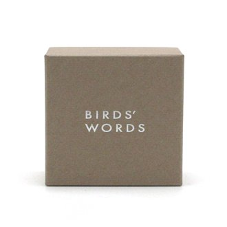 BIRDS' WORDS「BIRD TILE BROOCH」GIFT CASE / Gray