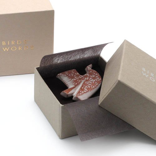 BIRDS' WORDS「BIRD TILE BROOCH」GIFT CASE / Grayのサブ画像2
