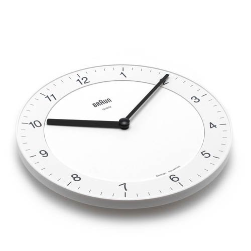 BRAUN「Wall Clock」BNC006 / Whiteのサブ画像1