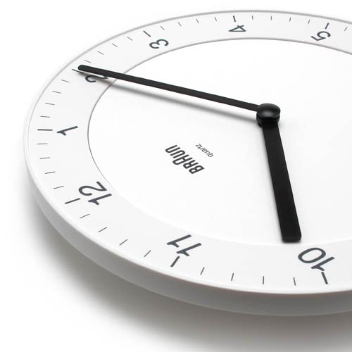 BRAUN「Wall Clock」BNC006 / Whiteのサブ画像2