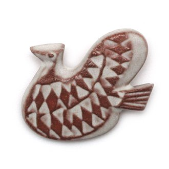 BIRDS' WORDS��BIRD TILE BROOCH��