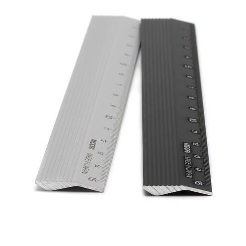 MIDORI「アルミ定規」15cm / Silverのサブ画像3